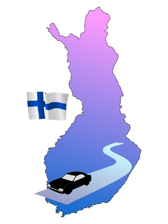 waiving: roads of Finland