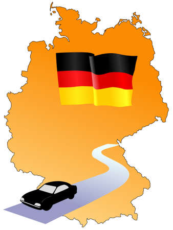 waiving: roads of Germany Illustration