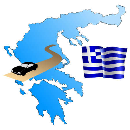 waiving: roads of Greece
