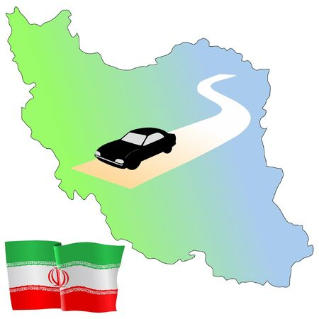 waiving: roads of Iran Illustration