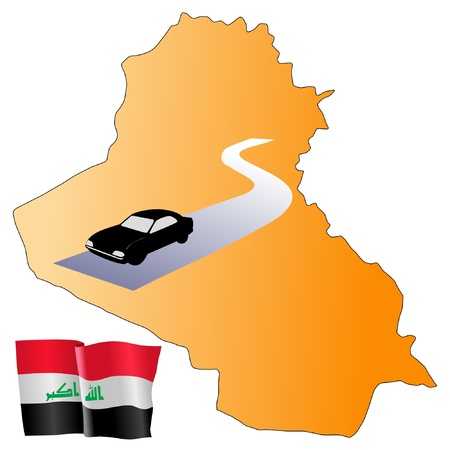waiving: roads of Iraq