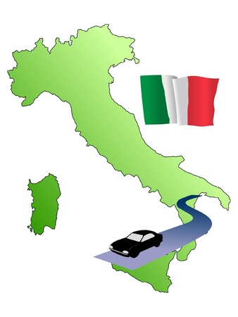 roads of Italy Vector