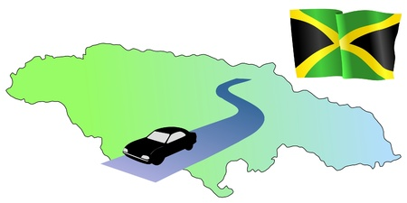 waiving: roads of Jamaica