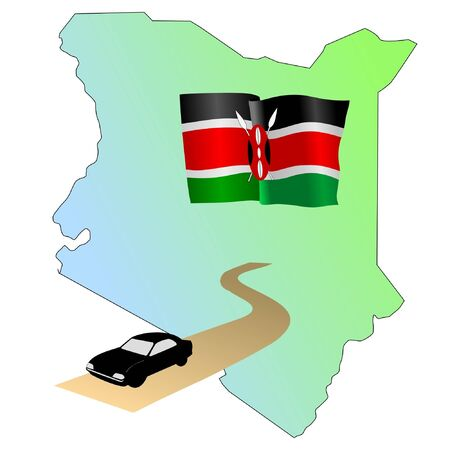 waiving: roads of Kenya