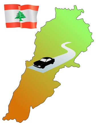 waiving: roads of Lebanon