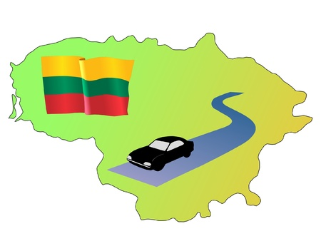 waiving: roads of Lithuania Illustration