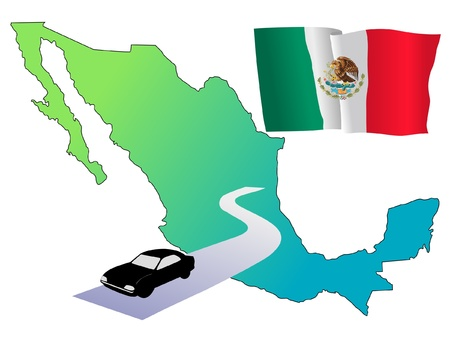 roads of Mexico Stock Vector - 11832632