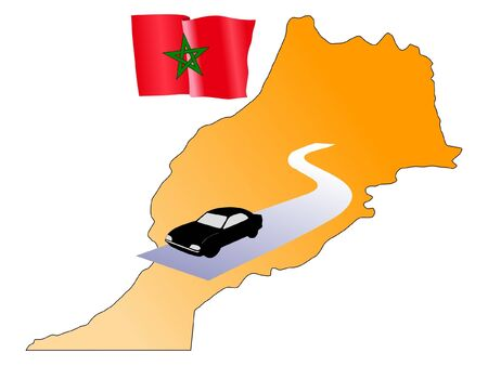 waiving: roads of Morocco