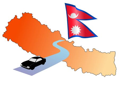 waiving: roads of Nepal