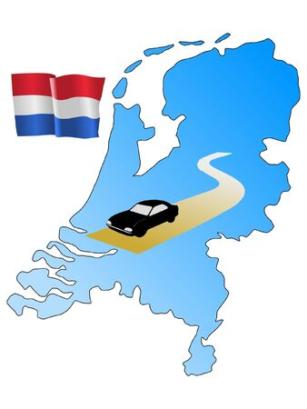 waiving: roads of Netherlands Illustration