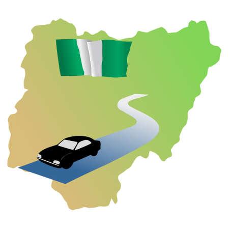 waiving: roads of Nigeria Illustration
