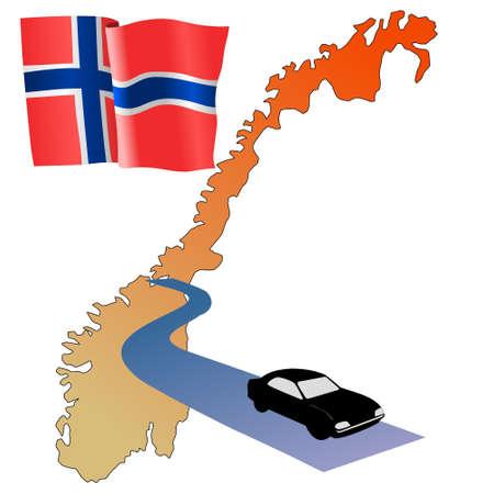 roads of Norway Stock Vector - 11832612
