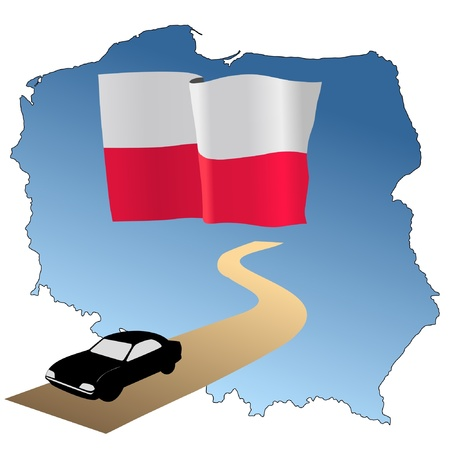 waiving: roads of Poland Illustration