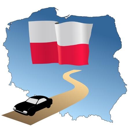 hayride: roads of Poland Illustration