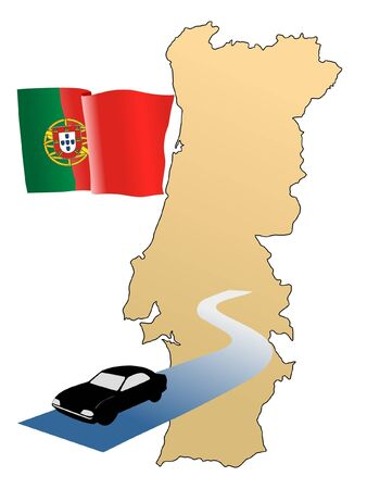 waiving: roads of Portugal