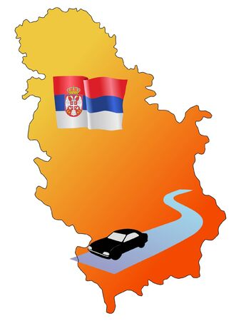 waiving: roads of Serbia Illustration