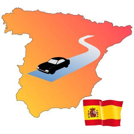 hayride: roads of Spain Illustration