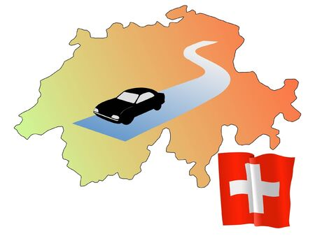 waiving: roads of Switzerland
