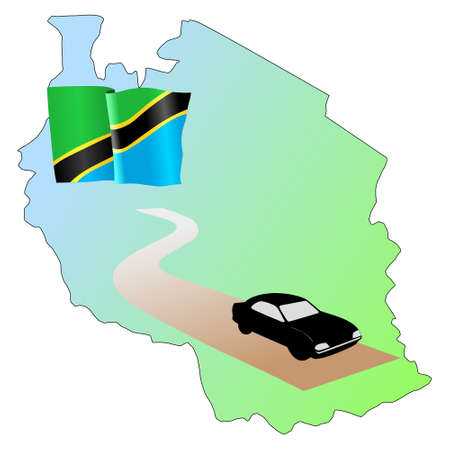 waiving: roads of Tanzania Illustration