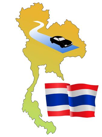 waiving: roads of Thailand