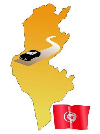 waiving: roads of Tunisia Illustration