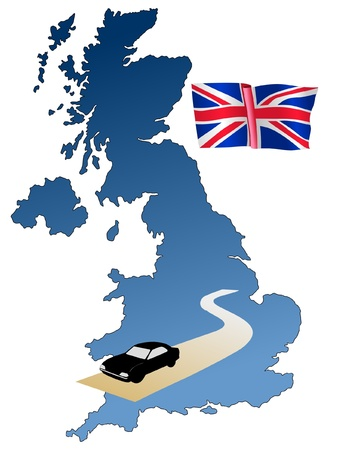 uk map: roads of UK
