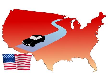 hayride: roads of USA Illustration