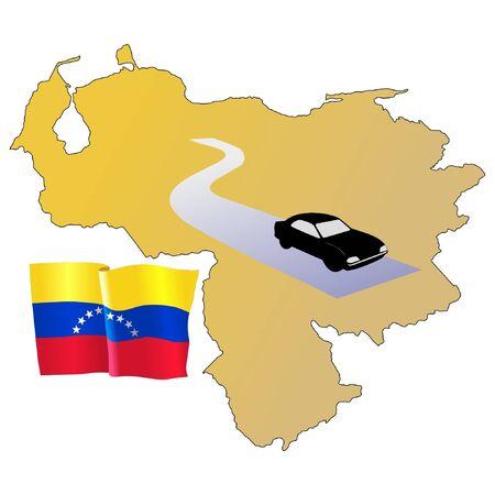 hayride: roads of Venezuela Illustration