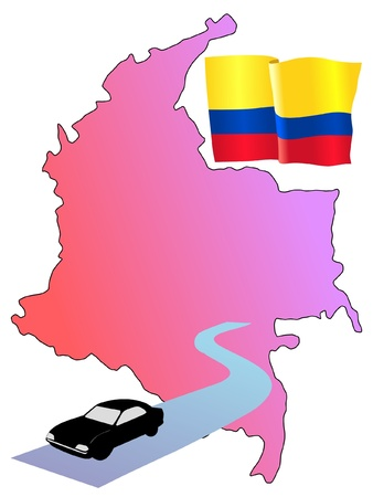 roads of Colombia Vector