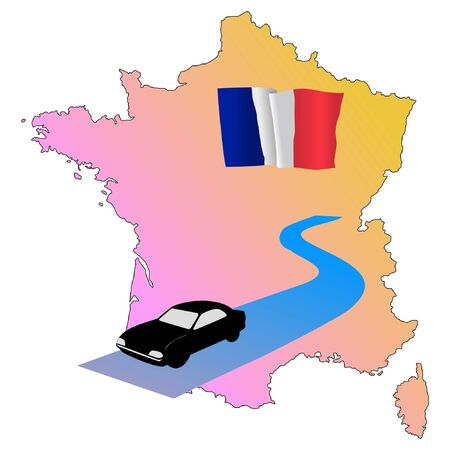hayride: roads of France Illustration