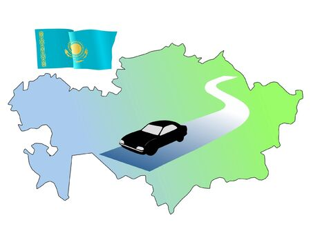 waiving: roads of Kazakhstan