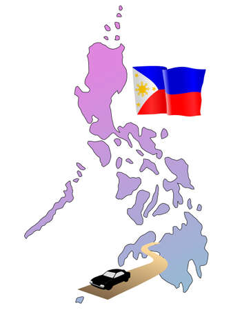 waiving: roads of Philippines