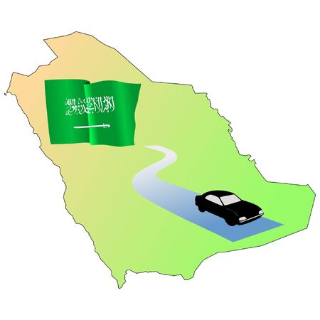 waiving: roads of Saudi Arabia