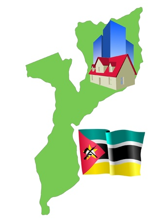 mozambique: hotel in Mozambique Illustration