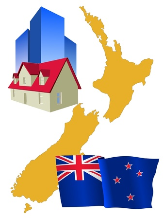 hotel in New Zealand Vector
