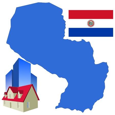 hotel in Paraguay Vector