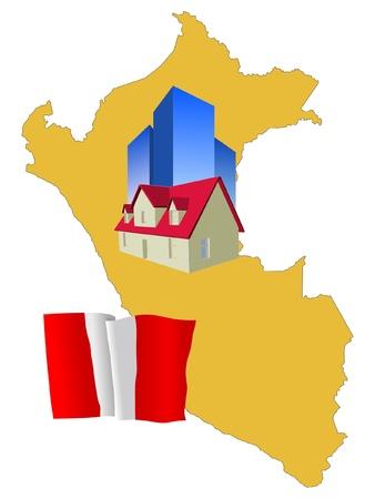 hotel in Peru Vector