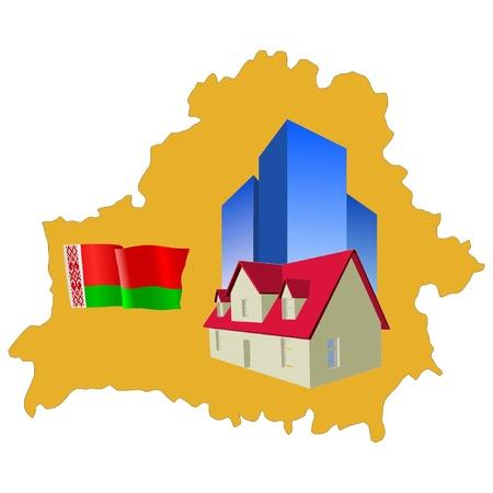 belarus: hotel in Belarus Illustration