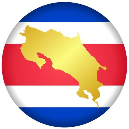 button in national colours of Costa Rica Vector