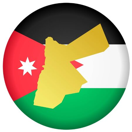 jordan: button in national colours of Jordan Illustration