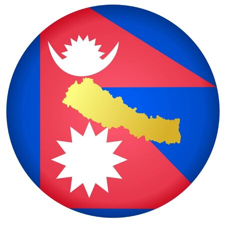 button in national colours of Nepal