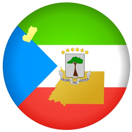 equatorial guinea: button in national colours of Equatorial Guinea Illustration