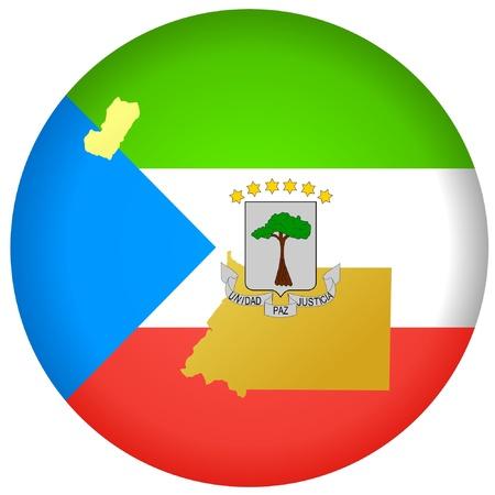 el botón con los colores nacionales de Guinea Ecuatorial Ilustración de vector