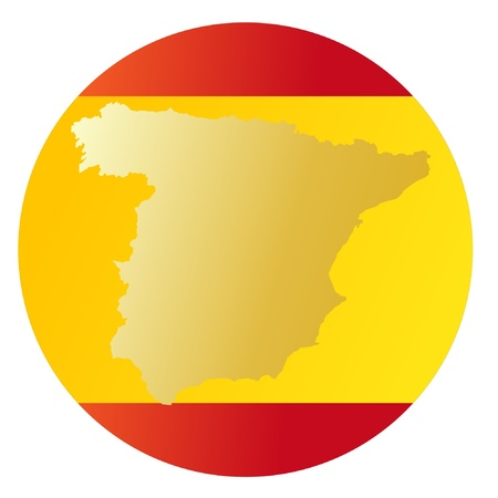 button in national colours of Spain Vector