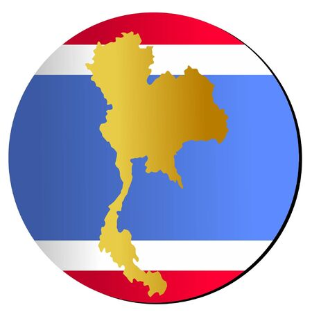 button in national colours of Thailand Vector
