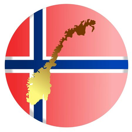 button in national colours of Norway Stock Vector - 11832892