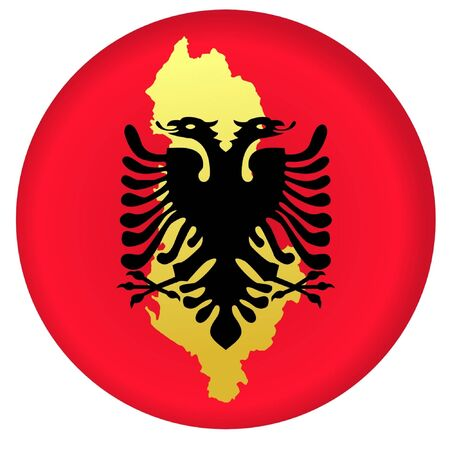 button in national colours of Albania Vector