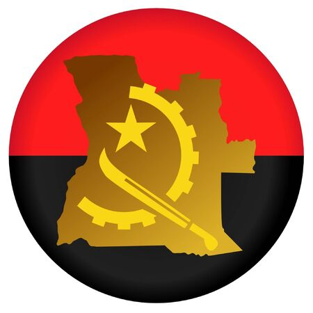 button in national colours of Angola Illustration