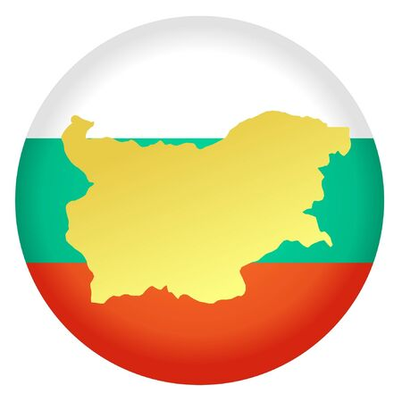 button in national colours of Bulgaria Vector