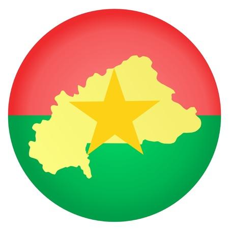burkina faso: button in national colours of Burkina Faso Illustration
